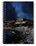 Nightfall Over Hard Time - San Quentin California State Prison - 5d18454 Spiral Notebook