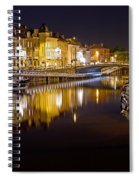 Nighttime Along The River Leie Spiral Notebook