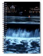 Nighttime At Boathouse Row Spiral Notebook
