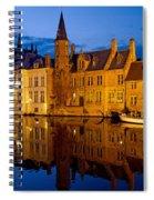 Nighttime Brugge Spiral Notebook