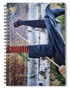 No Texting While Flying Spiral Notebook