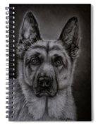 Noble - German Shepherd Dog  Spiral Notebook