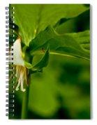 Nodding Trillium Spiral Notebook