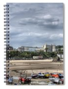 North Beach From Tenby Harbour Spiral Notebook
