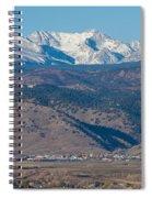 North Boulder Colorado Front Range View Spiral Notebook