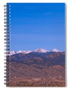 North Boulder County Colorado Full Moon View Spiral Notebook
