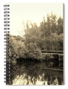 North Fork River In Sepia Spiral Notebook