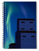 Northern Lights And Grain Elevator 2 Spiral Notebook