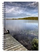 Northern Saskatchewan Lake Spiral Notebook