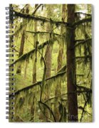 Northwest Mossy Tree Spiral Notebook