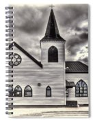 Norwegian Church Cardiff Bay Cream Spiral Notebook