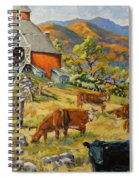 Nostalgia Cows Painting By Prankearts Spiral Notebook