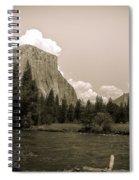 Nostalgic Yosemite Valley Spiral Notebook