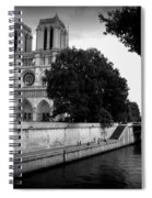 Notre Dame Along The Seine Spiral Notebook