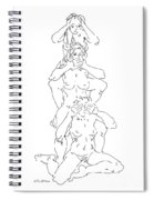 Nude Female Drawings 5 Spiral Notebook