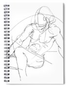 Nude-male-drawings-13 Spiral Notebook