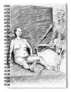Nude Man With Skeleton Spiral Notebook
