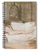 Nude On A Sofa Spiral Notebook