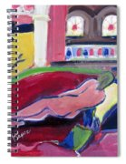 Nude With Fan In Foyer Spiral Notebook