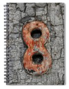 Number 8 And The Peeling Paint Spiral Notebook
