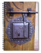 Nuremberg Castle Door Lock Spiral Notebook