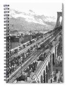 Ny: Brooklyn Bridge, 1883 Spiral Notebook