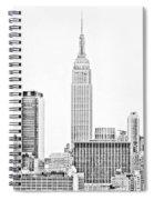 Ny Skyline - Black And White Spiral Notebook