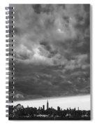 Ny Skyline Approaching Storm Spiral Notebook