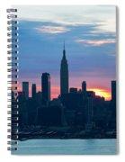 Ny Skyline Blue Dawn Spiral Notebook