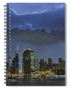 Nyc All Charged Up Spiral Notebook
