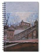 Nyc Bethesda Stairs Layered Spiral Notebook