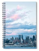 Nyc Sundown Blue II Spiral Notebook