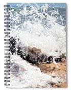 Oahu North Shore Splash Spiral Notebook