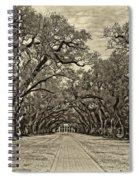 Oak Alley 3 Antique Sepia Spiral Notebook