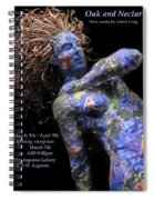 Oak And Nectar Exhibition Poster Black Spiral Notebook
