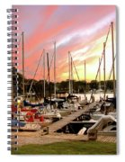 Oak Pt Harbor At Sunset Spiral Notebook