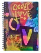 Occupy Love Open Heart Spiral Notebook