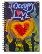 Occupy The Heart Spiral Notebook