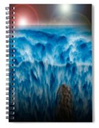 Ocean Falling Into Abyss Spiral Notebook