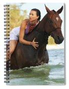 Ocean Horseback Rider Spiral Notebook