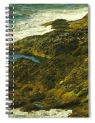 Ocean Pounded Rock  Spiral Notebook