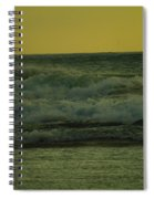 Ocean Waves Coming In Near Sunset Spiral Notebook