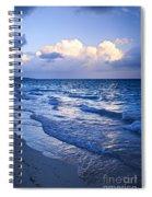 Ocean Waves On Beach At Dusk Spiral Notebook