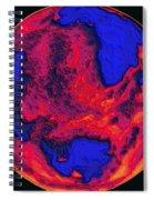 Oceans Of Fire Spiral Notebook