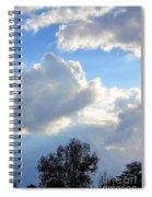 October's Cloud Illumination 2012 Spiral Notebook