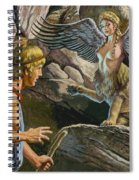 Oedipus Encountering The Sphinx Spiral Notebook