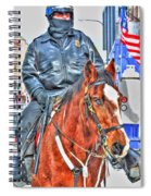 Officer On Brown Horse Spiral Notebook