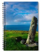 Ogham Stone, Dunmore Head, Dingle Spiral Notebook