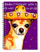 Party Chihuahua Spiral Notebook