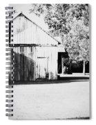 Ohio Shed Bw Spiral Notebook
